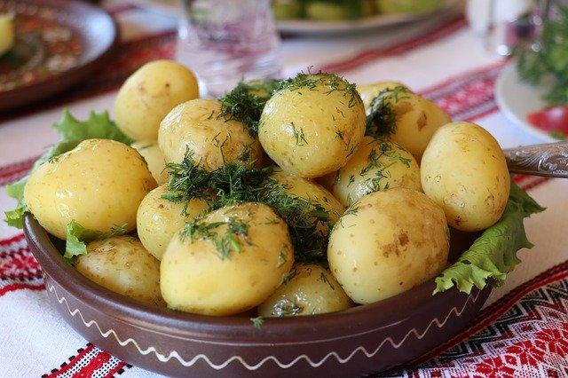 Quetschkartoffeln mit Lachs